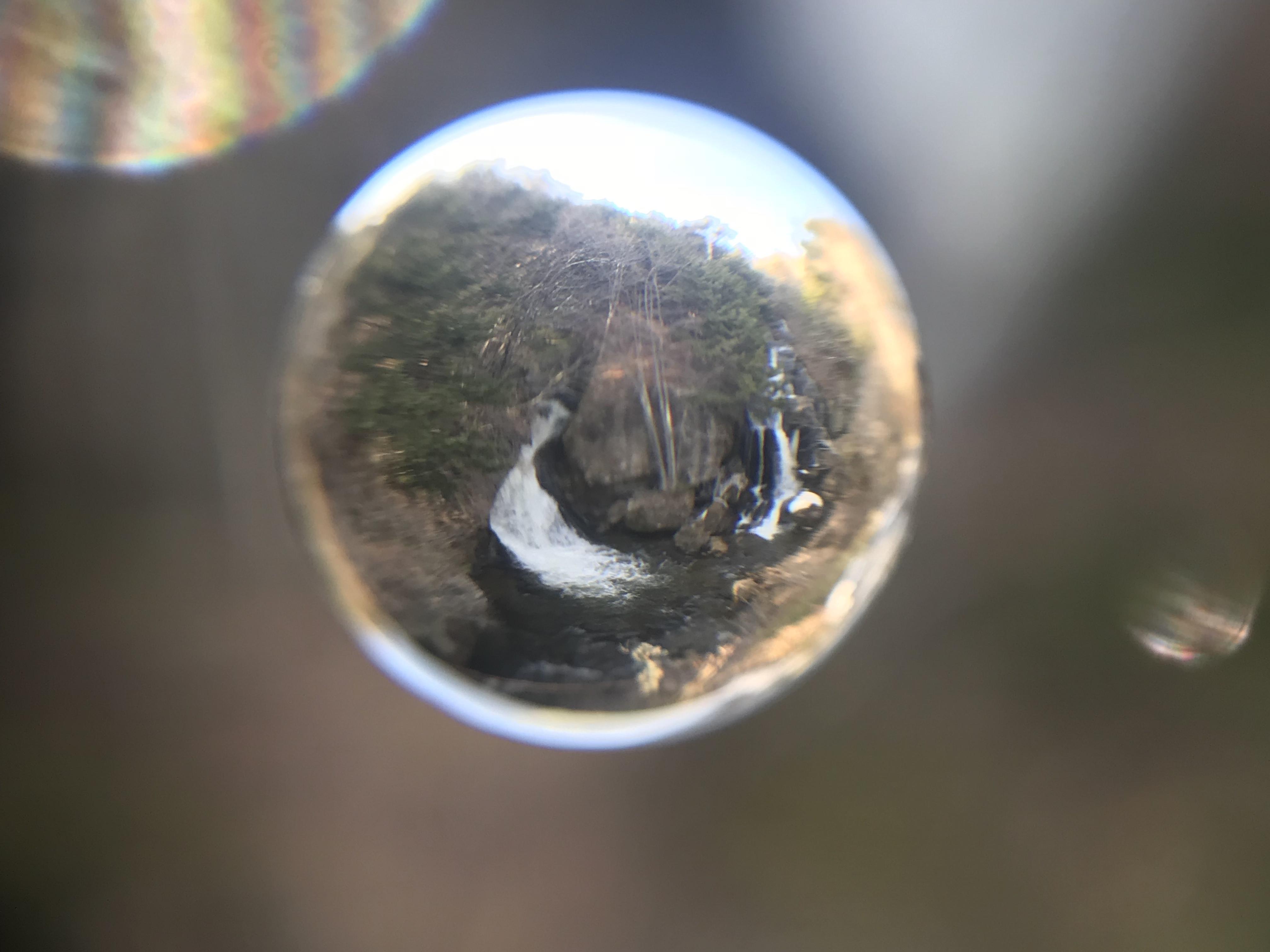 宇宙玉(そらたま)レンズで「竜頭の滝」をパチリ