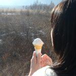 ケイコおススメ三本松茶屋のソフトクリーム